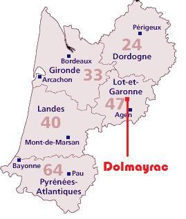 Dolmayrac dans l`Aquitaine