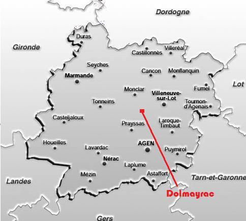 Dolmayrac dans le Lot-Et-Garonne