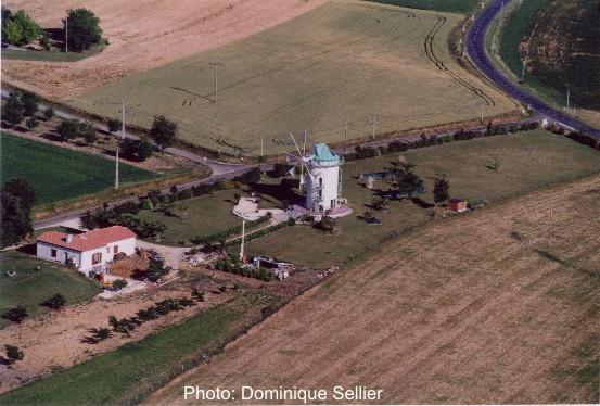 Moulin de Lamaurelle vu du ciel