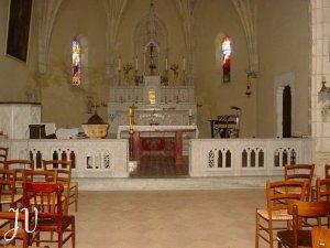 L'intérieur de l'église St Orens